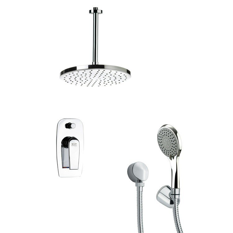 REMER SFH6016 ORSINO CONTEMPORARY SHOWER FAUCET WITH HANDHELD SHOWER IN CHROME