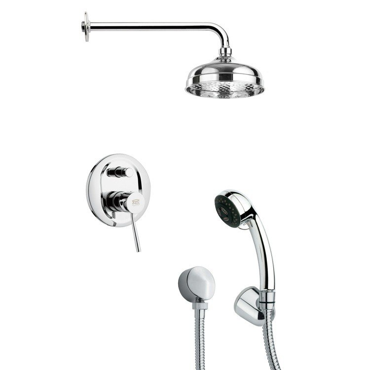 REMER SFH6029 ORSINO SLEEK POLISHED CHROME SHOWER SYSTEM