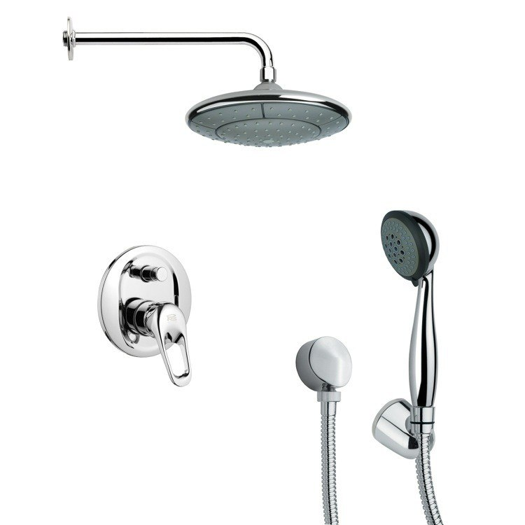 REMER SFH6030 ORSINO POLISHED CHROME SHOWER FAUCET WITH HANDHELD SHOWER