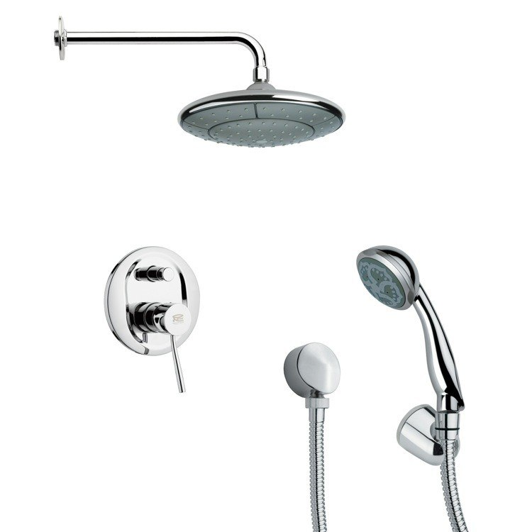REMER SFH6031 ORSINO MODERN CHROME SHOWER FAUCET SET WITH HAND SHOWER