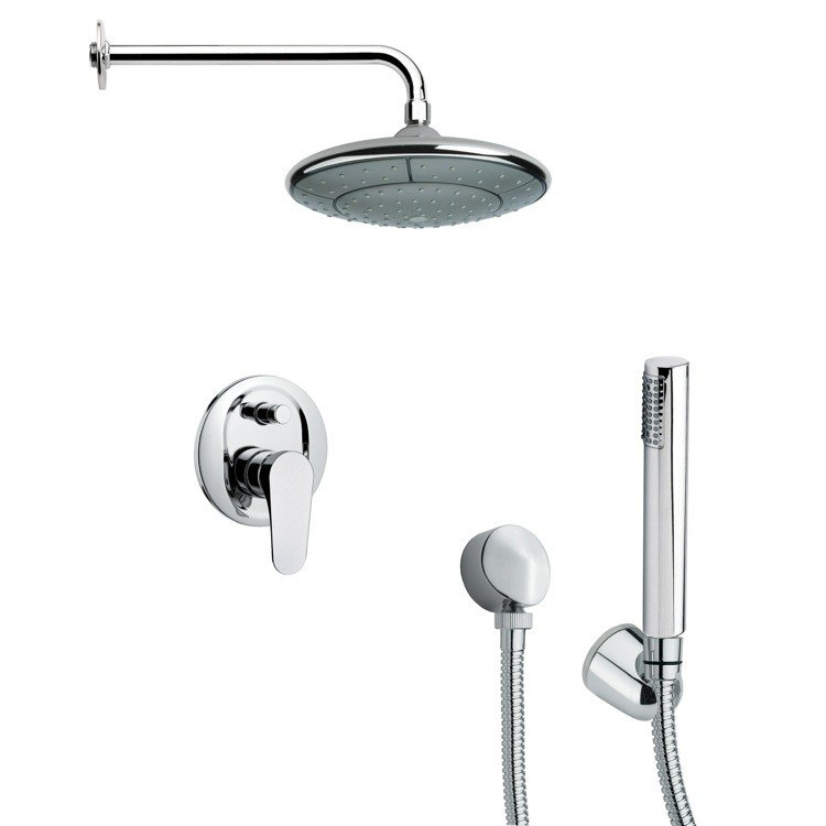 REMER SFH6032 ORSINO ROUND SHOWER FAUCET SET WITH HANDHELD SHOWER IN CHROME