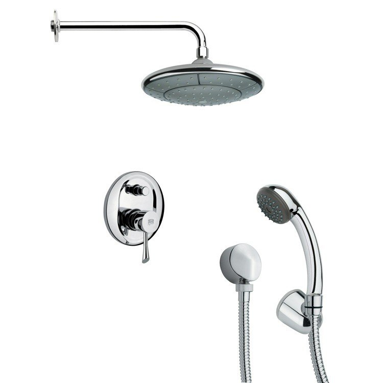 REMER SFH6033 ORSINO ROUND SHOWER FAUCET WITH HAND SHOWER IN CHROME