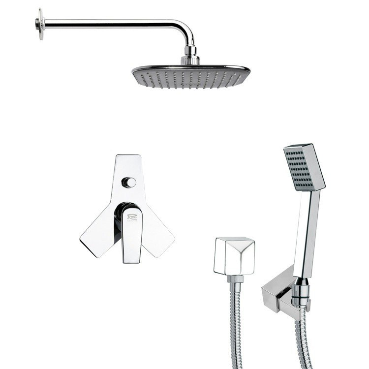 REMER SFH6034 ORSINO SQUARE SHOWER FAUCET WITH HANDHELD SHOWER IN CHROME