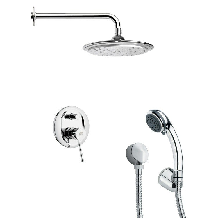 REMER SFH6044 ORSINO ROUND SHOWER FAUCET WITH HAND SHOWER IN CHROME