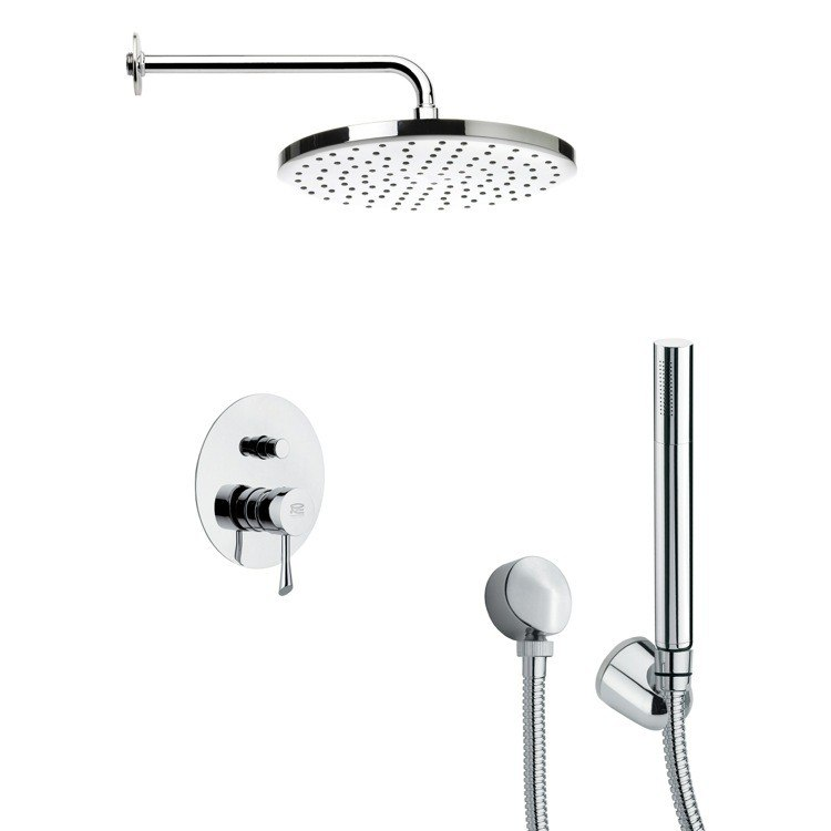 REMER SFH6046 ORSINO CONTEMPORARY SHOWER FAUCET WITH HAND SHOWER IN CHROME