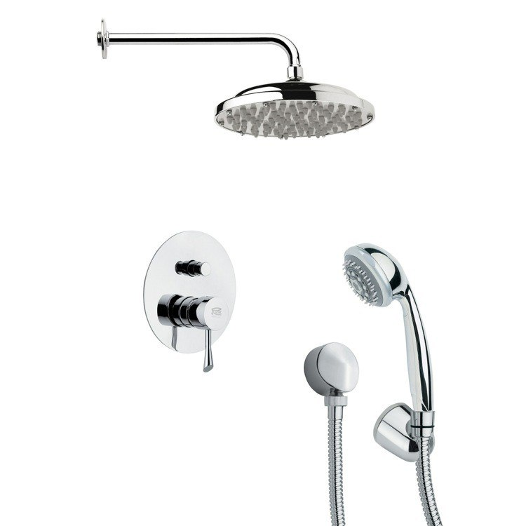 REMER SFH6053 ORSINO CHROME SHOWER FAUCET WITH HANDHELD SHOWER