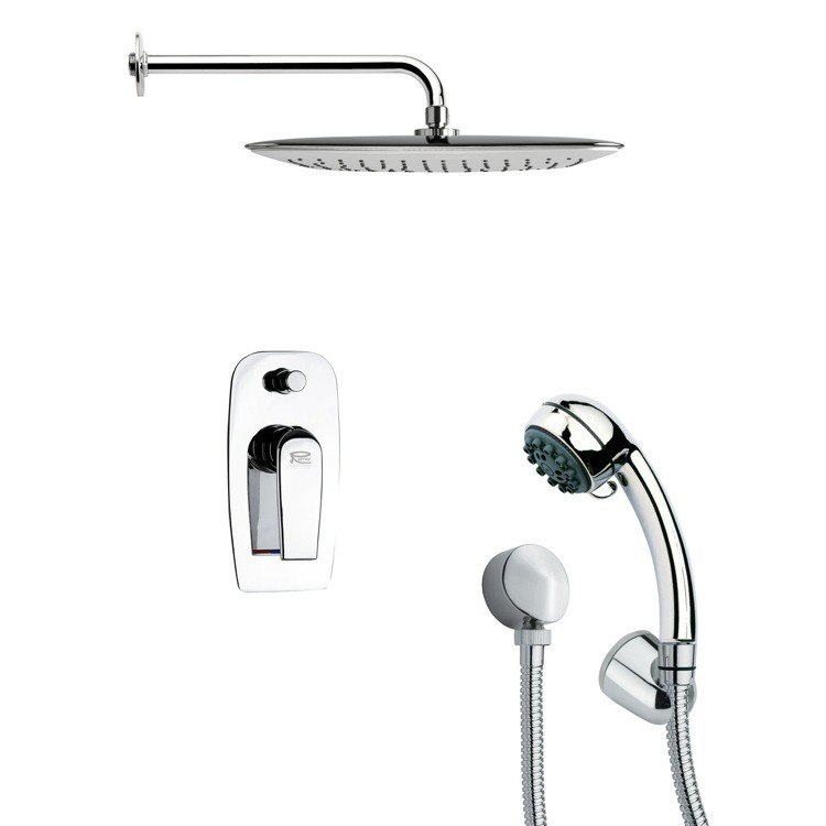 REMER SFH6054 ORSINO SHOWER FAUCET SET WITH HANDHELD SHOWER IN CHROME