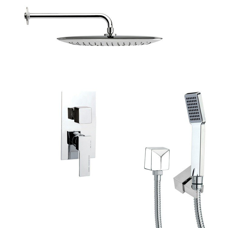 REMER SFH6056 ORSINO SQUARE CHROME SHOWER SYSTEM