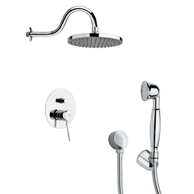 REMER SFH6066 ORSINO ROUND CHROME SHOWER FAUCET WITH HAND SHOWER