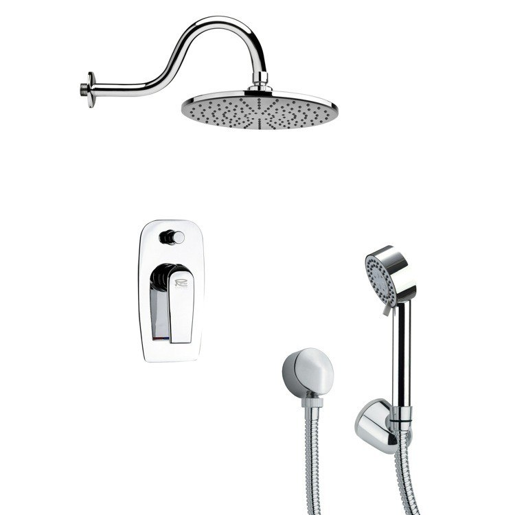 REMER SFH6069 ORSINO MODERN CHROME ROUND SHOWER SYSTEM