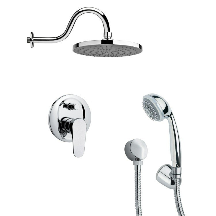 REMER SFH6080 ORSINO ROUND CHROME CONTEMPORARY SHOWER SYSTEM