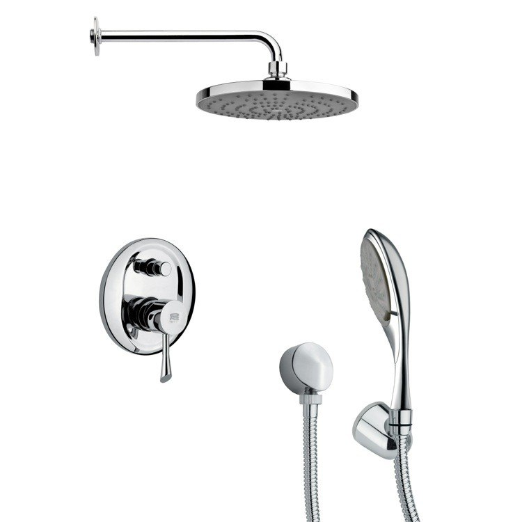 REMER SFH6083 ORSINO SLEEK MODERN SHOWER SYSTEM IN CHROME