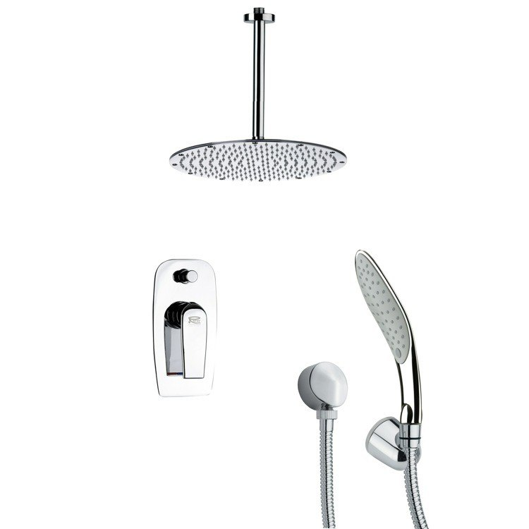 REMER SFH6094 ORSINO CHROME ROUND SHOWER FAUCET WITH HANDHELD SHOWER