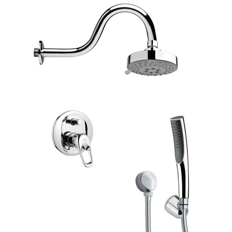 REMER SFH6105 ORSINO MODERN SLEEK SHOWER FAUCET WITH HAND SHOWER IN CHROME