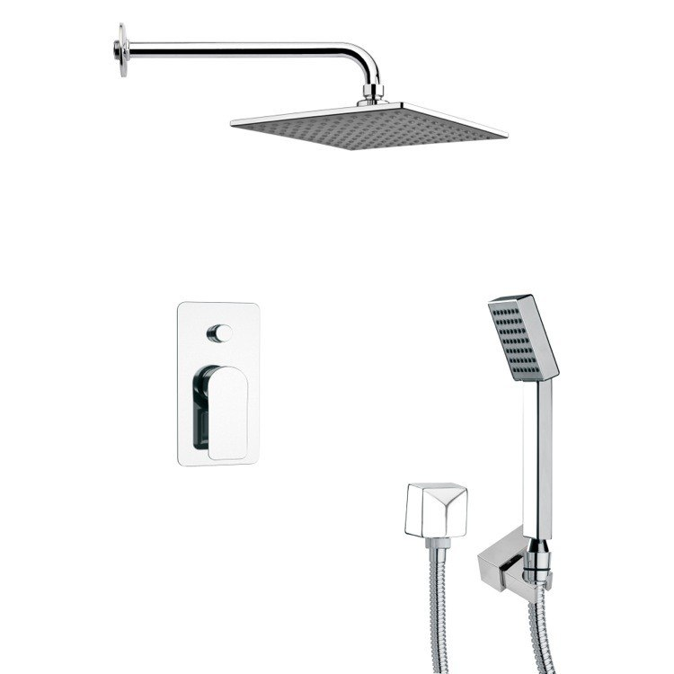 REMER SFH6109 ORSINO SQUARE CONTEMPORARY SHOWER SYSTEM IN CHROME