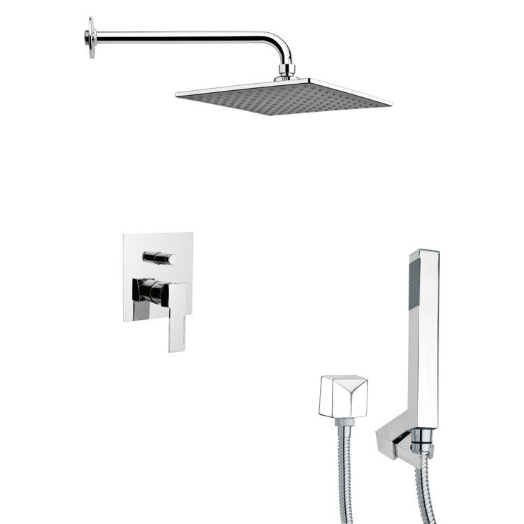 REMER SFH6110 ORSINO SQUARE MODERN SHOWER SYSTEM IN CHROME