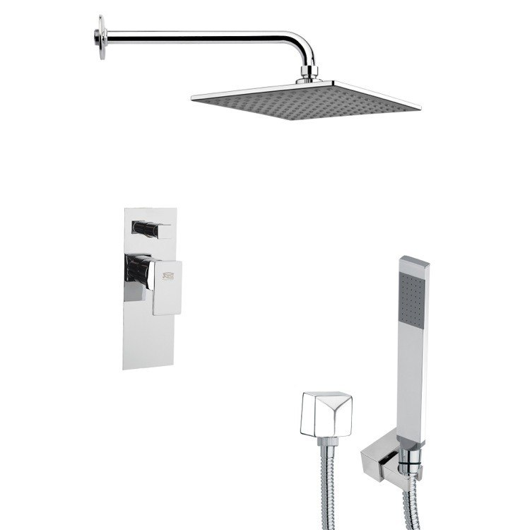 REMER SFH6112 ORSINO SQUARE CHROME MODERN SHOWER SYSTEM