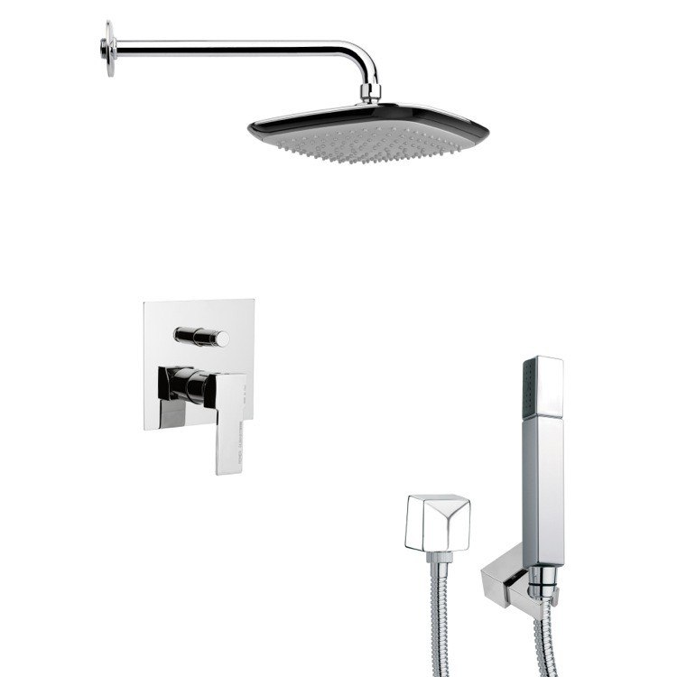 REMER SFH6114 ORSINO CHROME MODERN SQUARE SHOWER SYSTEM
