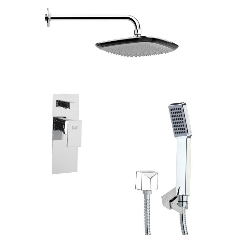 REMER SFH6116 ORSINO CONTEMPORARY SQUARE SHOWER SYSTEM IN CHROME