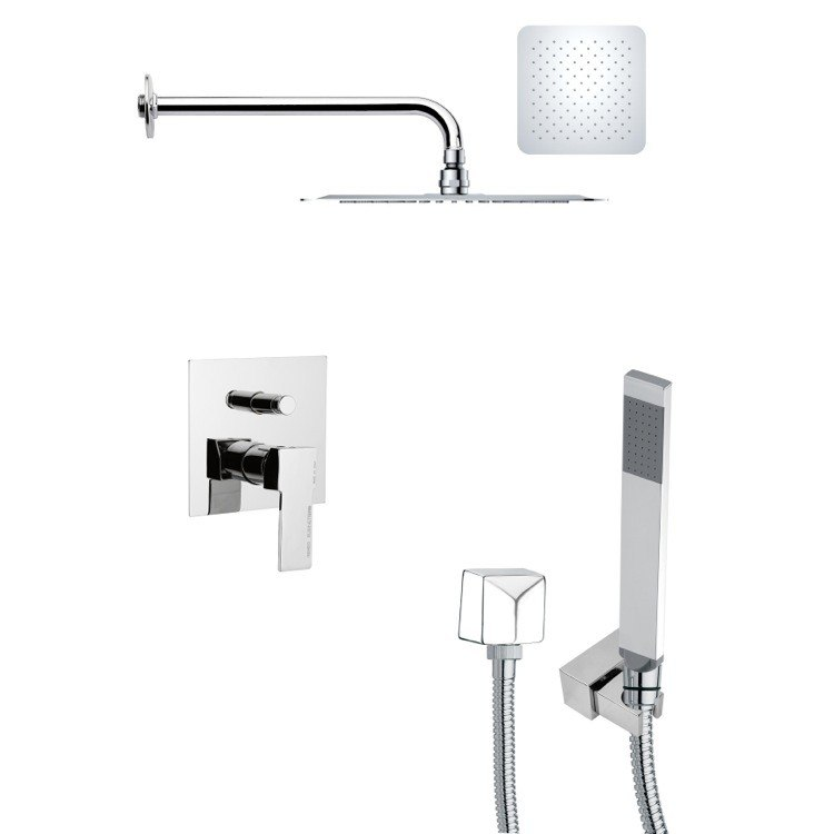 REMER SFH6117 ORSINO MODERN SQUARE SHOWER SYSTEM IN CHROME