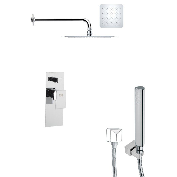 REMER SFH6119 ORSINO SQUARE SHOWER FAUCET WITH HAND SHOWER IN CHROME