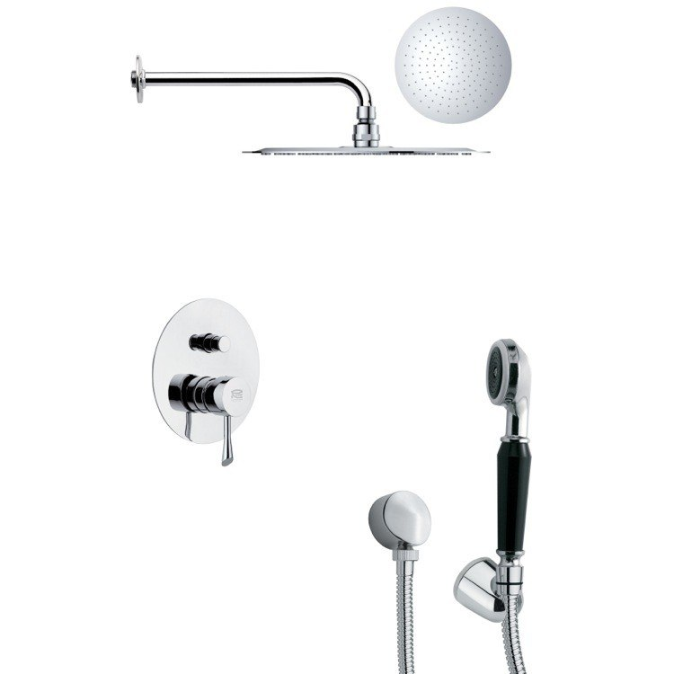 REMER SFH6121 ORSINO POLISHED CHROME ROUND SHOWER SYSTEM