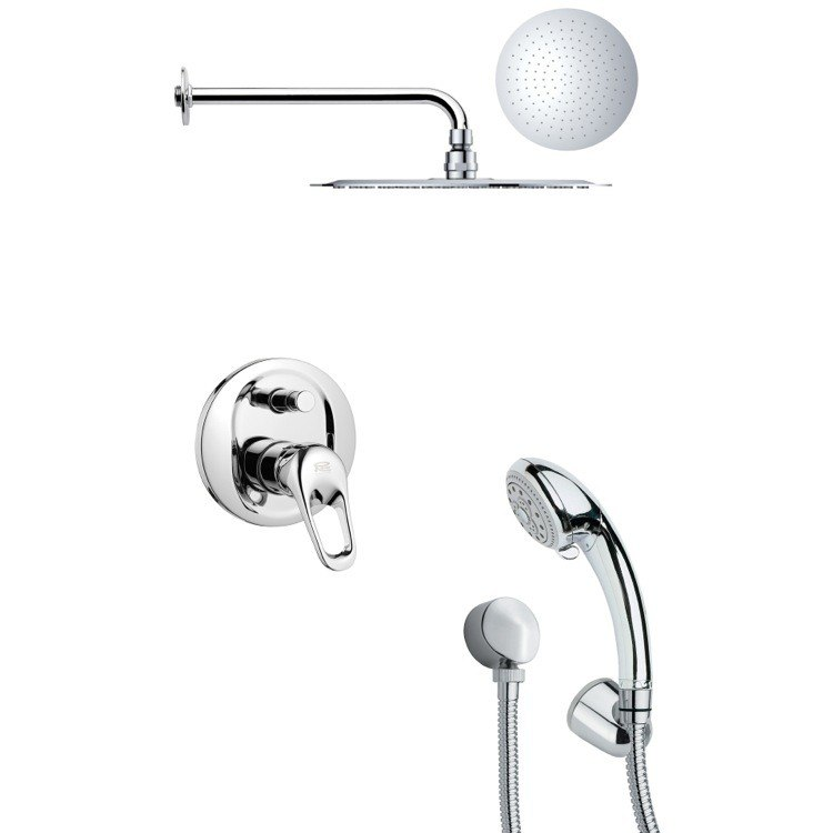 REMER SFH6123 ORSINO SLEEK ROUND POLISHED CHROME SHOWER SYSTEM