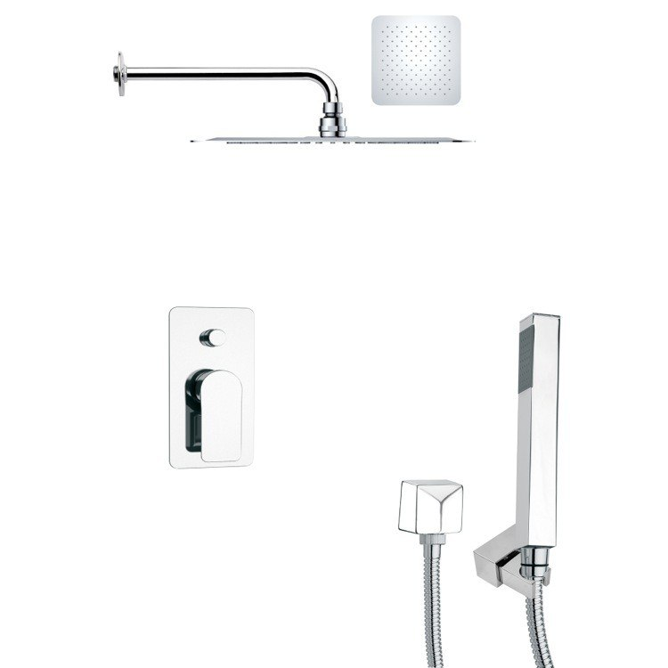 REMER SFH6125 ORSINO SQUARE POLISHED CHROME SHOWER SYSTEM