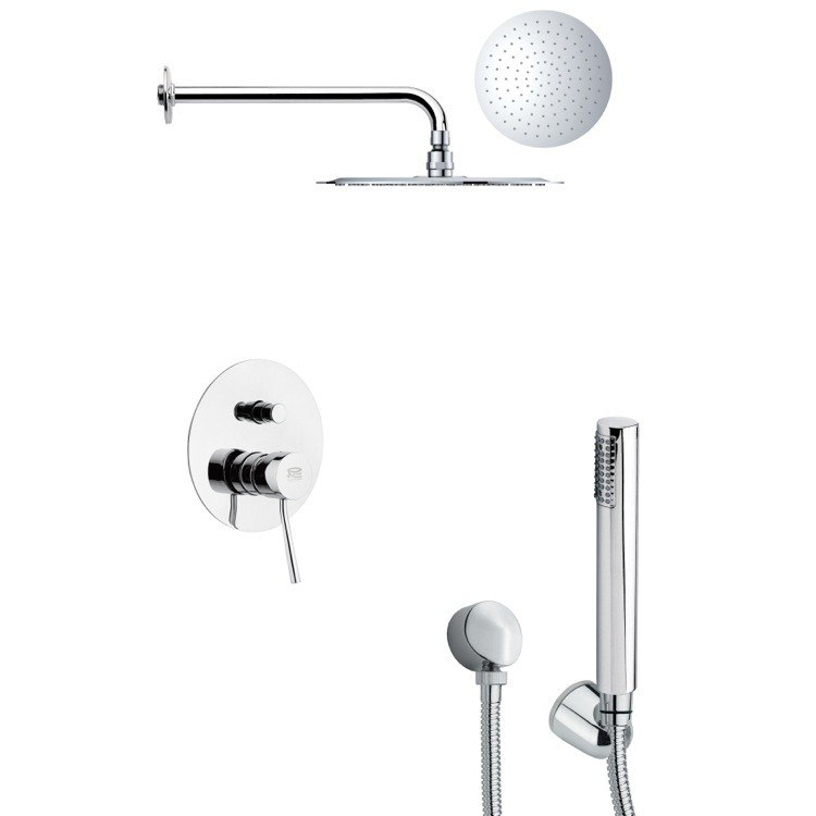 REMER SFH6131 ORSINO SLEEK CHROME SHOWER FAUCET SET WITH HANDHELD SHOWER