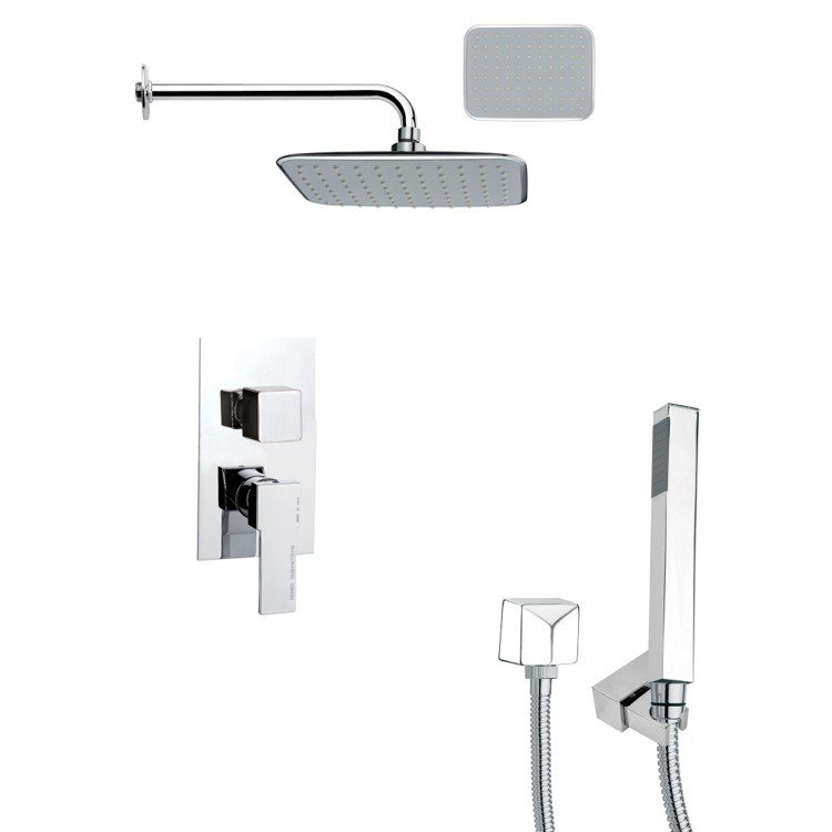 REMER SFH6134 ORSINO MODERN CHROME SQUARE SHOWER SYSTEM