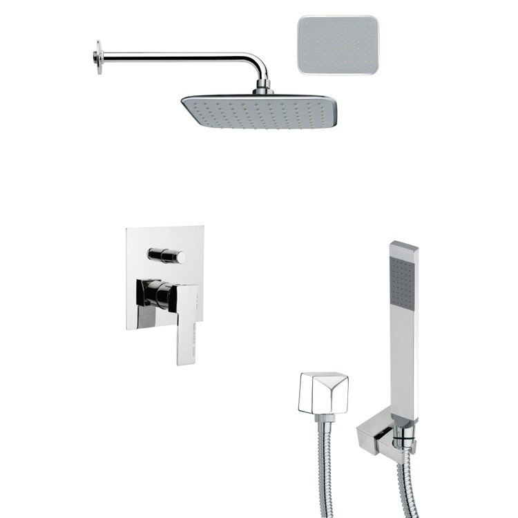 REMER SFH6135 ORSINO POLISHED CHROME SQUARE SHOWER SYSTEM