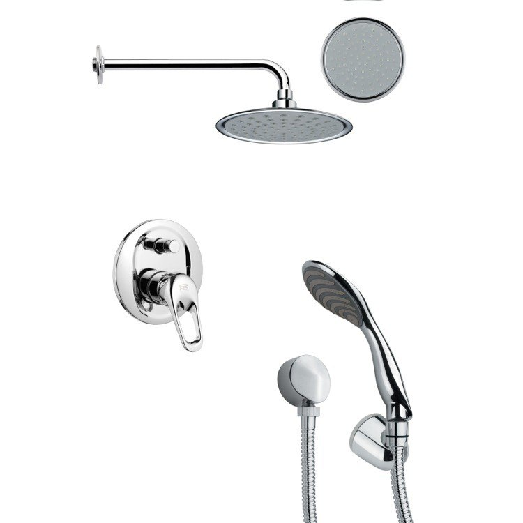 REMER SFH6137 ORSINO ROUND SHOWER FAUCET WITH HANDHELD SHOWER IN CHROME