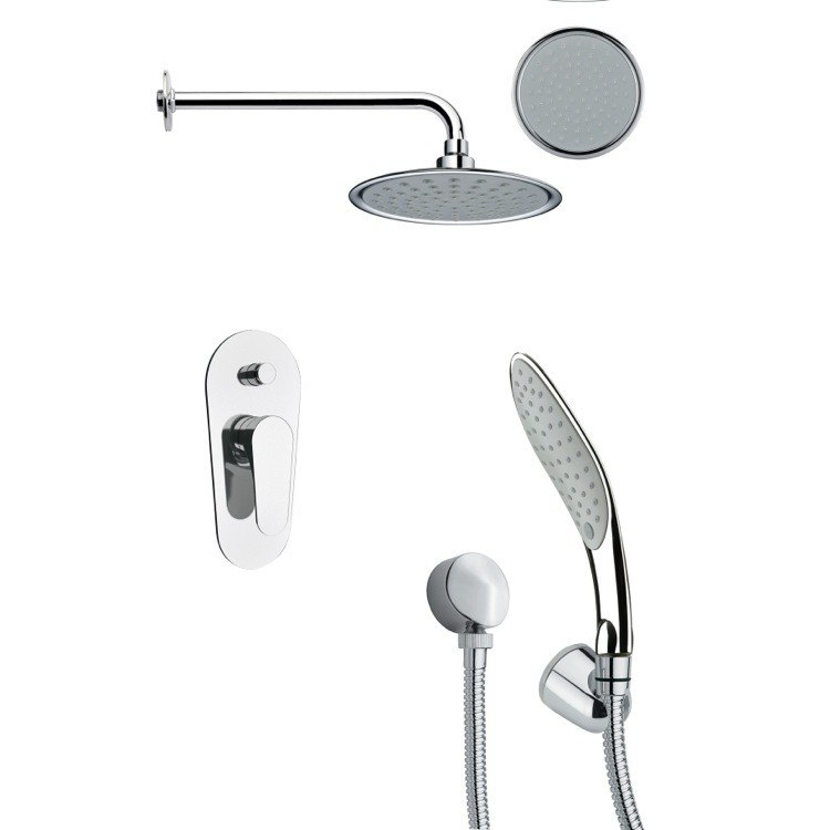 REMER SFH6138 ORSINO ROUND SHOWER FAUCET SET WITH HAND SHOWER IN CHROME