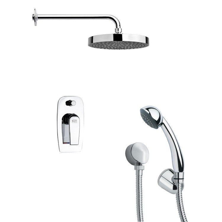 REMER SFH6146 ORSINO POLISHED CHROME ROUND SHOWER FAUCET WITH HAND SHOWER