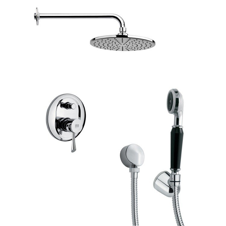 REMER SFH6155 ORSINO ROUND CONTEMPORARY SHOWER FAUCET WITH HAND SHOWER IN CHROME