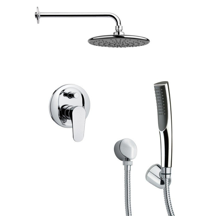 REMER SFH6158 ORSINO POLISHED CHROME SLEEK SHOWER FAUCET WITH HANDHELD SHOWER