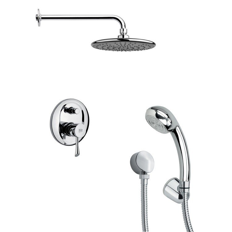 REMER SFH6159 ORSINO POLISHED CHROME SLEEK SHOWER FAUCET WITH HAND SHOWER