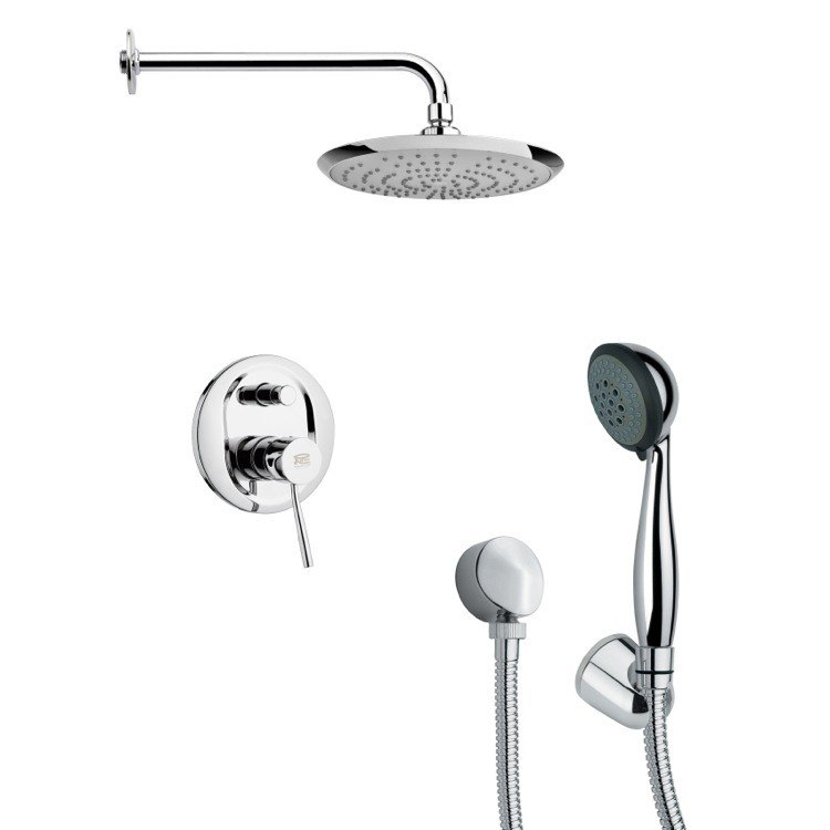 REMER SFH6161 ORSINO POLISHED CHROME SLEEK SHOWER FAUCET SET WITH HAND SHOWER