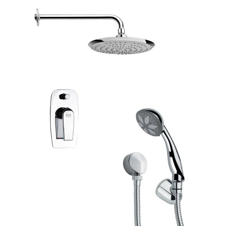 REMER SFH6164 ORSINO MODERN SHOWER FAUCET WITH HANDHELD SHOWER IN CHROME