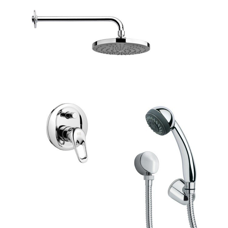 REMER SFH6165 ORSINO MODERN SHOWER FAUCET WITH HAND SHOWER IN CHROME