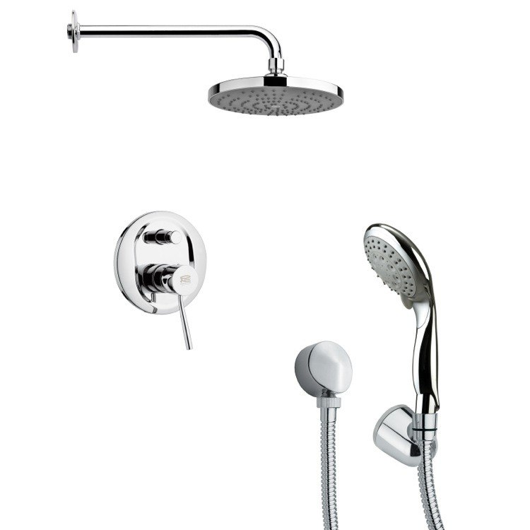REMER SFH6166 ORSINO ROUND MODERN POLISHED CHROME SHOWER SYSTEM