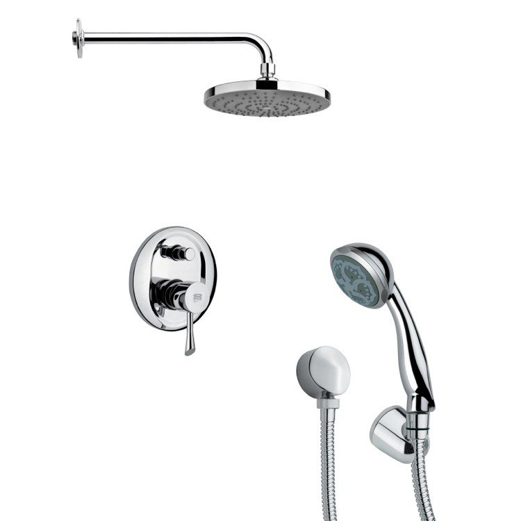 REMER SFH6168 ORSINO SLEEK CONTEMPORARY POLISHED CHROME SHOWER SYSTEM