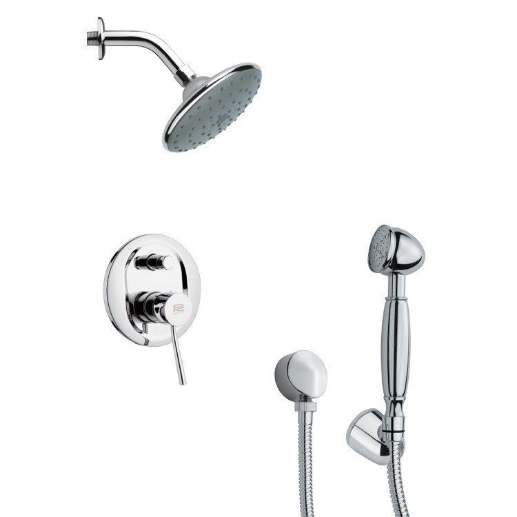 REMER SFH6189 ORSINO SLEEK MODERN SHOWER FAUCET WITH HANDHELD SHOWER IN CHROME
