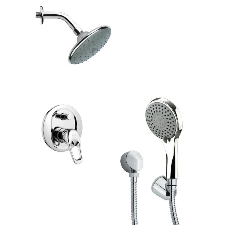 REMER SFH6192 ORSINO SLEEK MODERN SHOWER FAUCET SET WITH HAND SHOWER IN CHROME