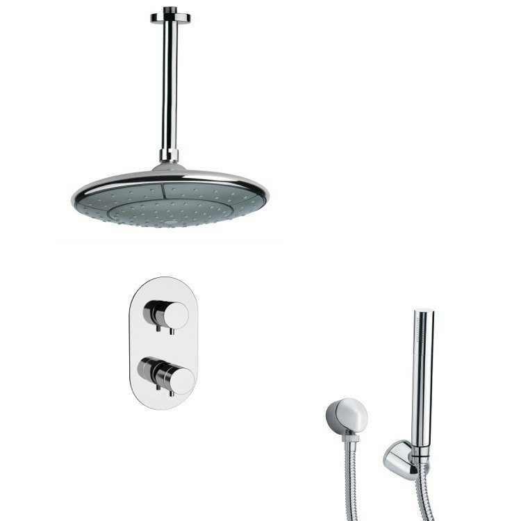 REMER SFH6406 ORSINO POLISHED CHROME THERMOSTATIC SHOWER FAUCET WITH HAND SHOWER