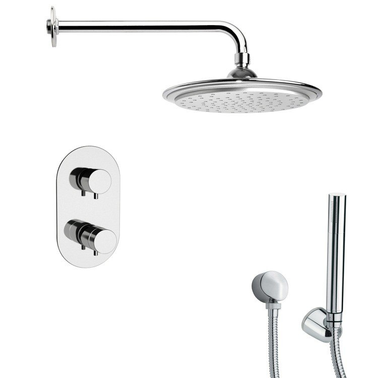 REMER SFH6407 ORSINO POLISHED CHROME THERMOSTATIC SHOWER FAUCET WITH HAND SHOWER