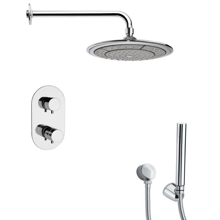 REMER SFH6408 ORSINO POLISHED CHROME THERMOSTATIC SHOWER FAUCET WITH HAND SHOWER
