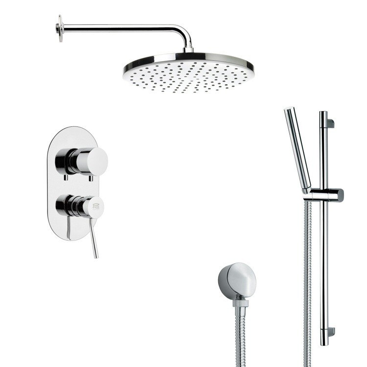 REMER SFR7046 RENDINO ROUND POLISHED CHROME SHOWER FAUCET SET