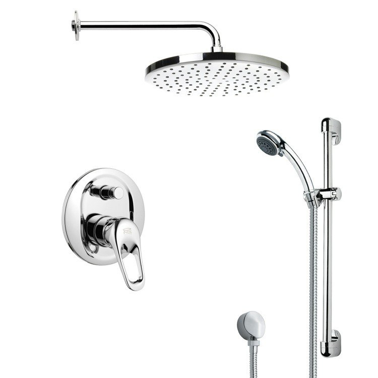 REMER SFR7049 RENDINO ROUND POLISHED CHROME SHOWER FAUCET SET