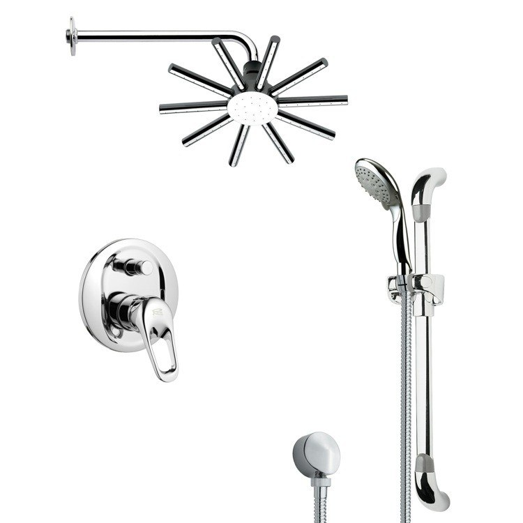 REMER SFR7084 RENDINO SLEEK POLISHED CHROME SHOWER FAUCET SET
